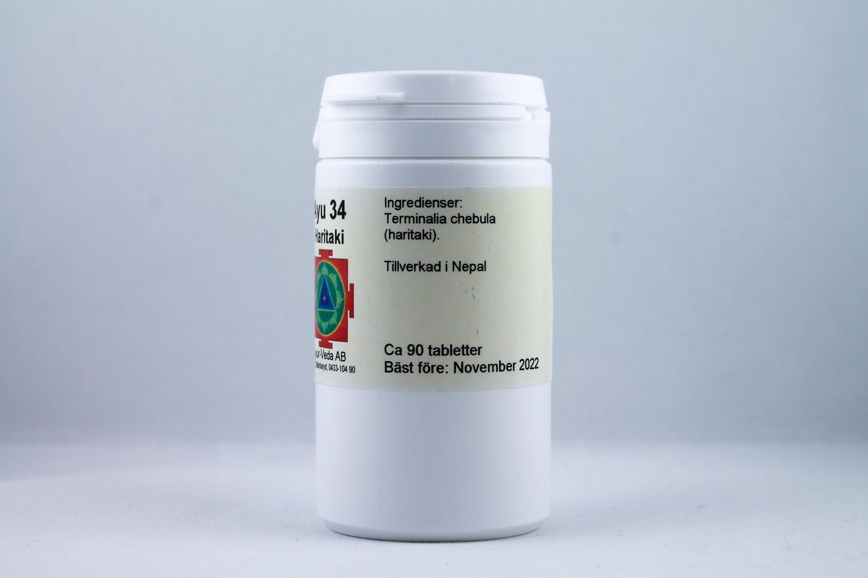Haritaki Wellness Ayurveda Halmstadmassören Halmstad Sverige Sweden svensk tabletter eko ekologiskt