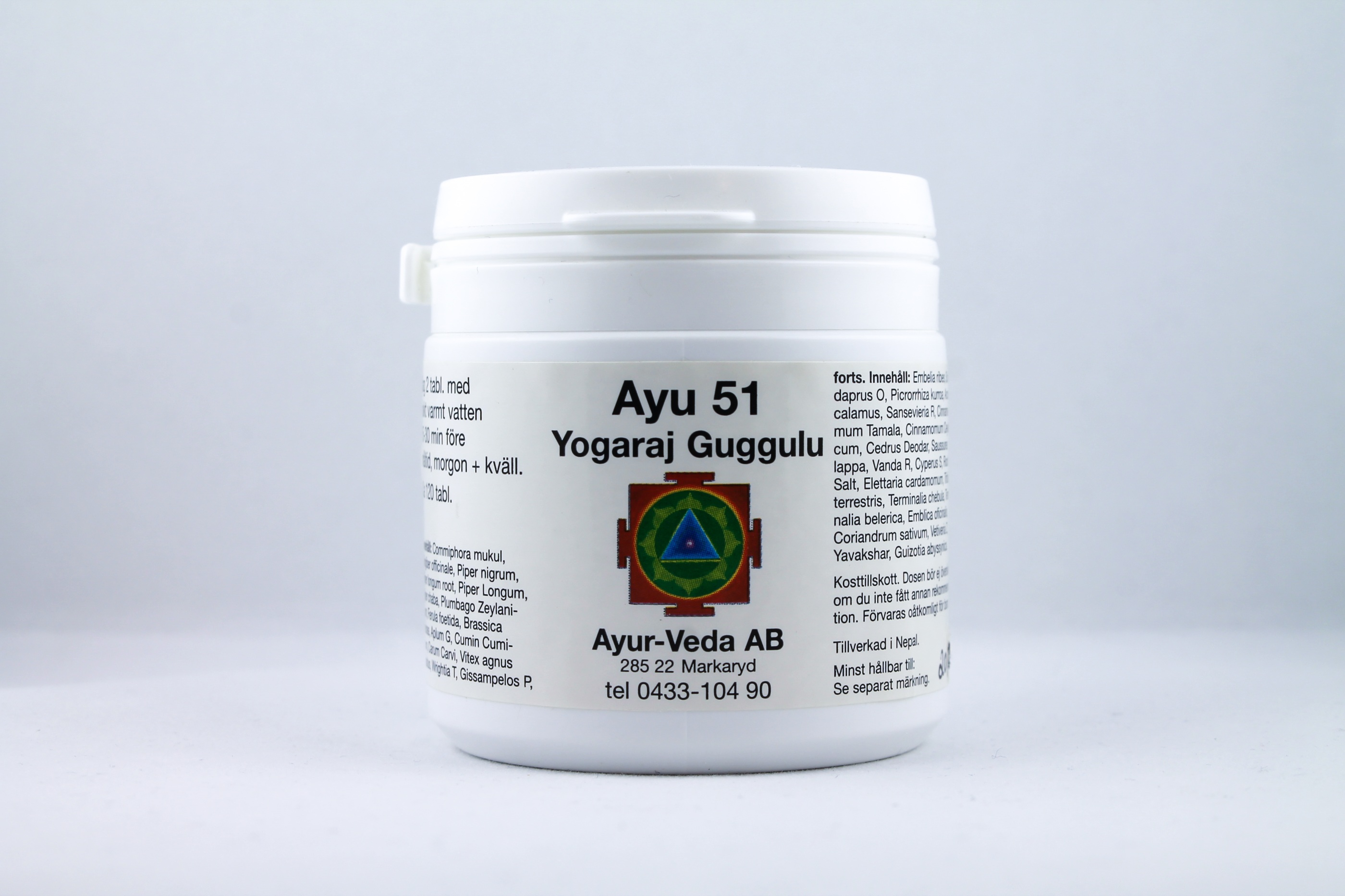 Yogaraj Guggulu Wellness Ayurveda Halmstadmassören Halmstad Sverige Sweden svensk tabletter