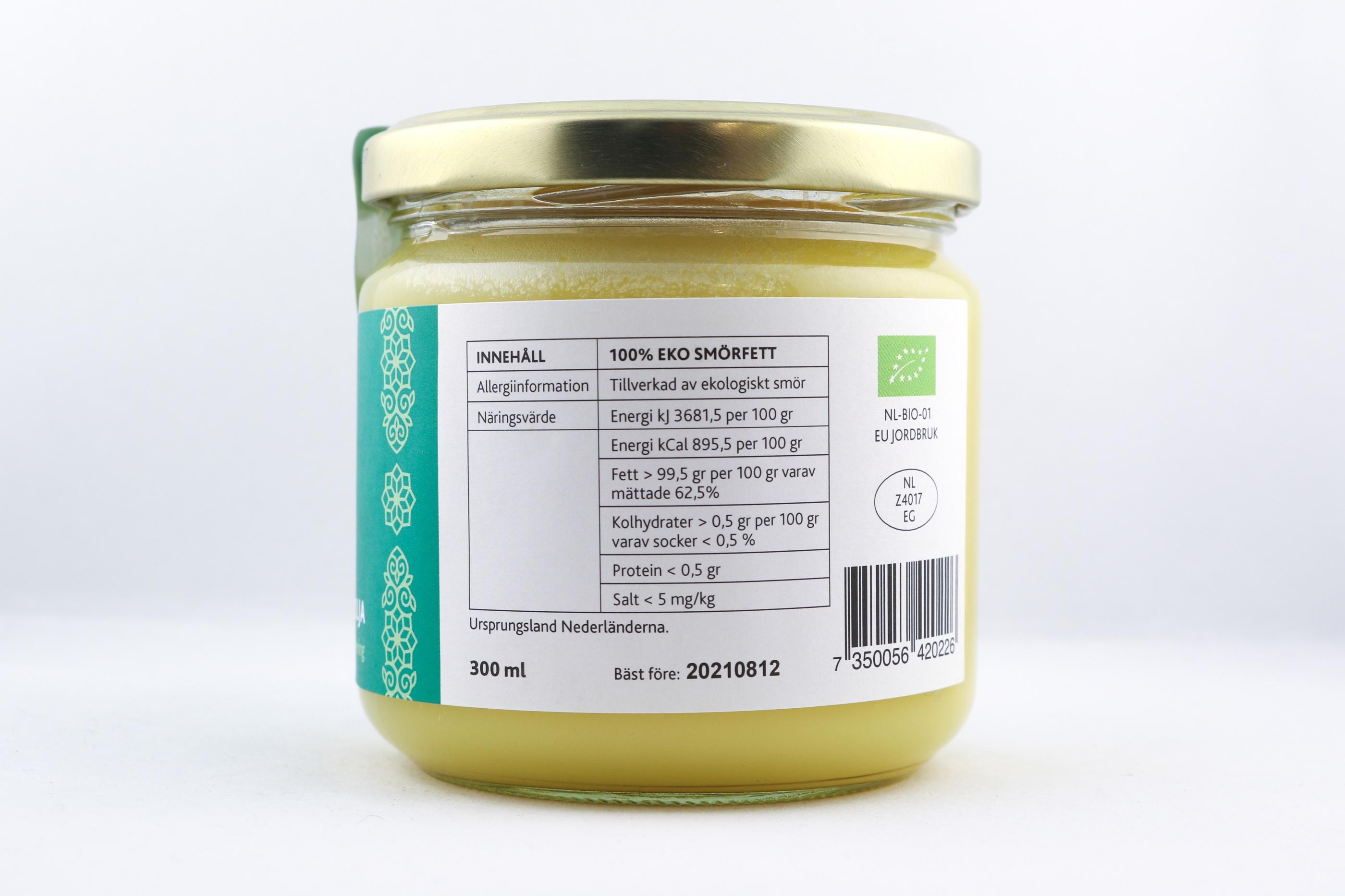 Ghee Ghi G Wellness Ayurveda Halmstadmassören Halmstad Sverige Sweden svensk mat olja smör lösvikt eko ekologiskt