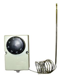 Laddomat Termostater: Rökrörstermostat 300°C, 1,5 m, med montagesats, 50–300°C