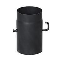 KAMINRÖR/ RÖKRÖR MED SPJÄLL KORT HANDTAG 25cm Ø120mm - RSZ.120.25
