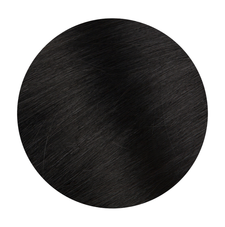 1 Jet Black - Sach Hair Extensions Color Chart