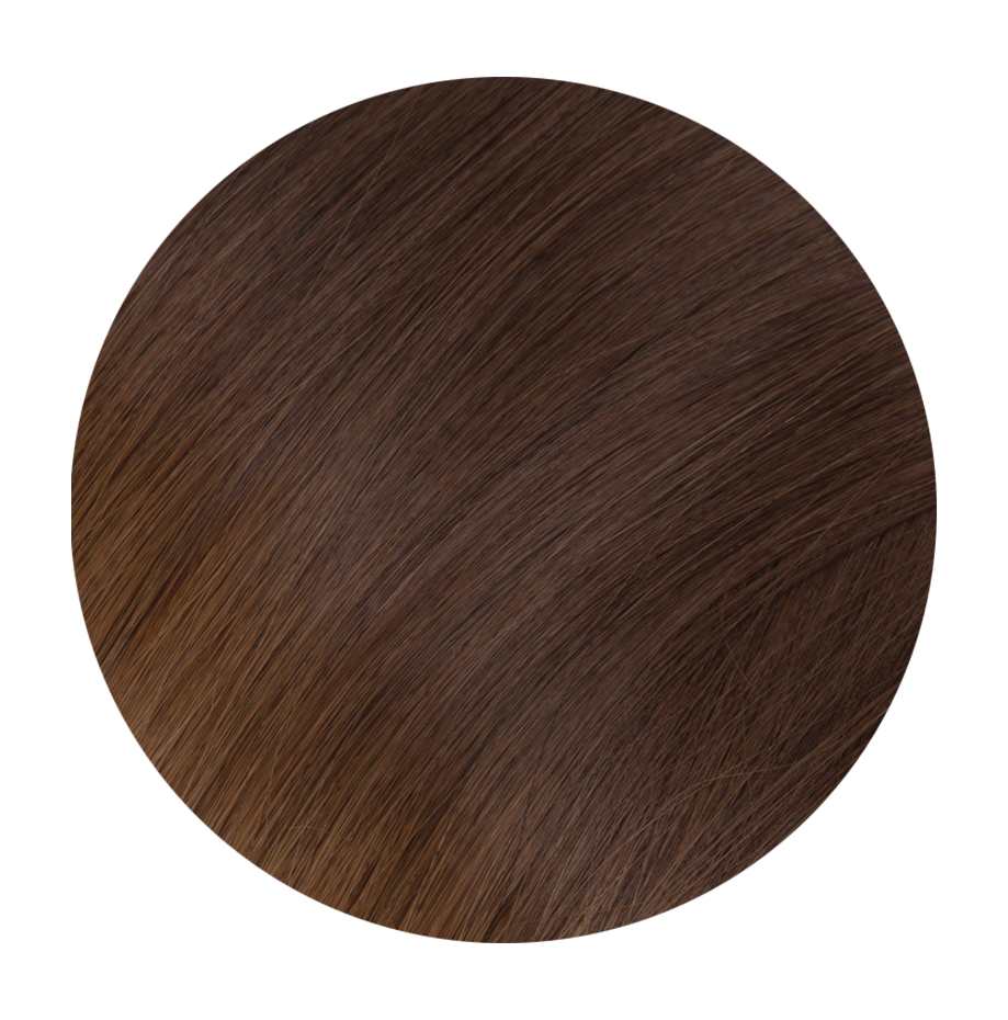 6 Dark Chestnut Brown - Sach Hair Extensions Color Chart