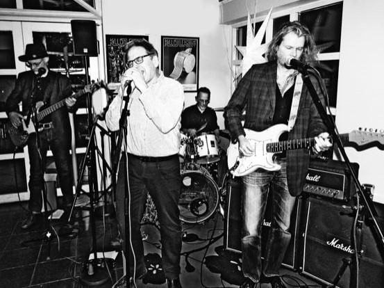 BluesBlocket 2018: Mac Robertson, Mats Zetterberg, Ingvar Krupa, Björn Almquist. Foto: Hans Aarenstrup