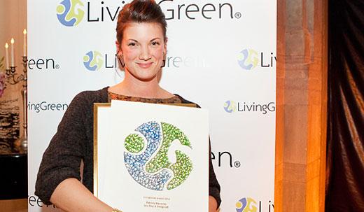 Patricia Rawecka fick LivingGreen Award 2012. Foto Cicci Feinstein