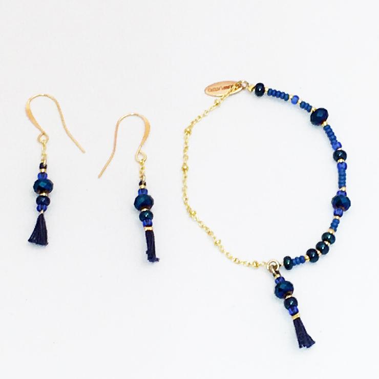 Juanplatero, örhänge, armband, blå, minicharm, fairtrade, smycke, hantverk, guatemala, fairmonkey