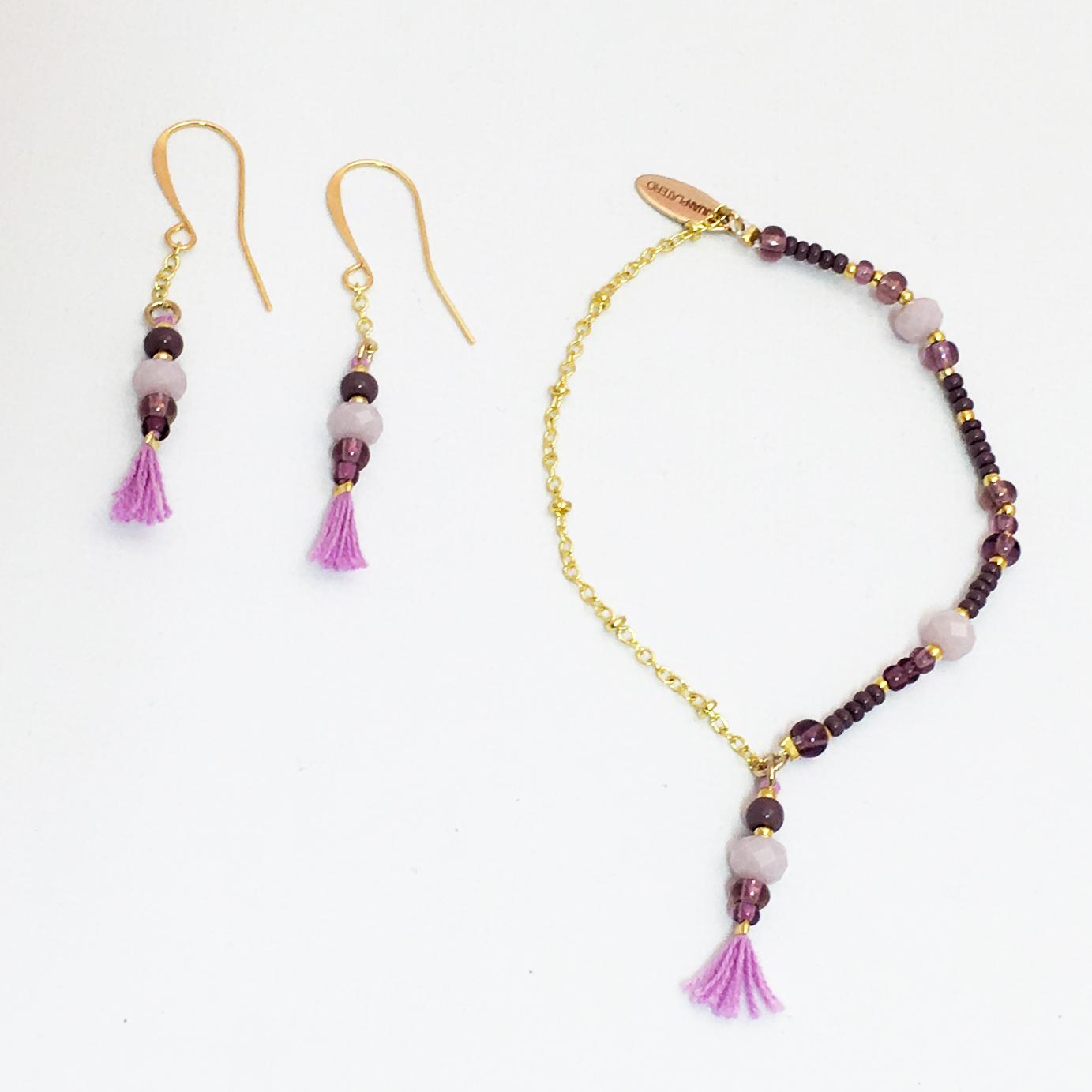 Juanplatero, örhänge, armband, minicharm, purple, fairtrade, smycke, hantverk, guatemala, fairmonkey (2)