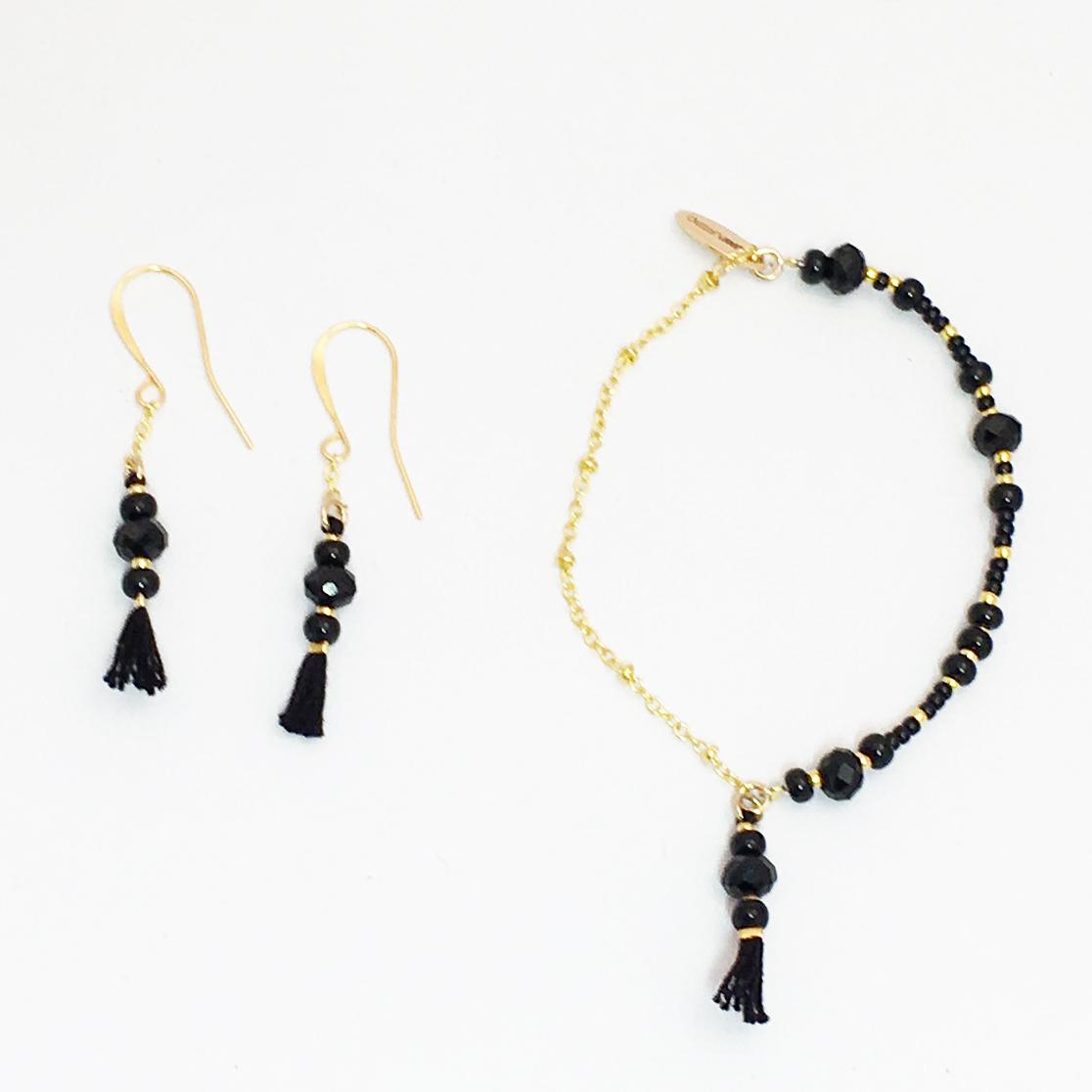 Juanplatero, örhänge, armband, svart, minicharm, fairtrade, smycke, hantverk, guatemala, fairmonkey