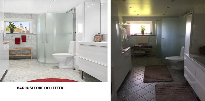Badrum före och efter
