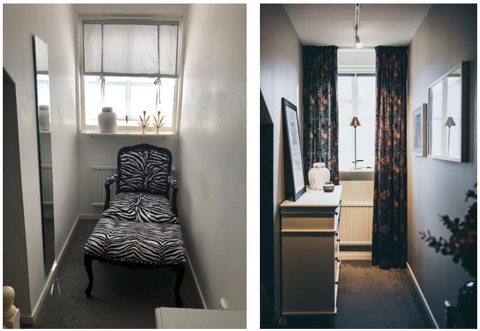 Före och efter: Inred och anpassa ett smalt utrymme med möbler i rätt storlek.