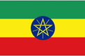 Ethiopia car flag
