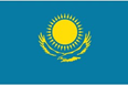 Kazakhstan car flag
