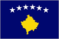 Kosovo car flag