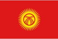 Kyrgyzstan car flag
