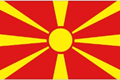 Macedonia car flag
