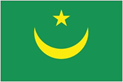 Mauritania car flag