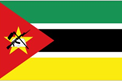 Mozambique car flag