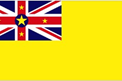 Niue car flag