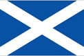 Scotland car flag