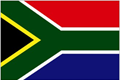 South Africa car flag