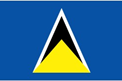 St. Lucia car flag