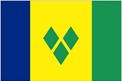 St. Vincent & the Grenadines car flag
