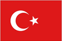 Turkey car flag
