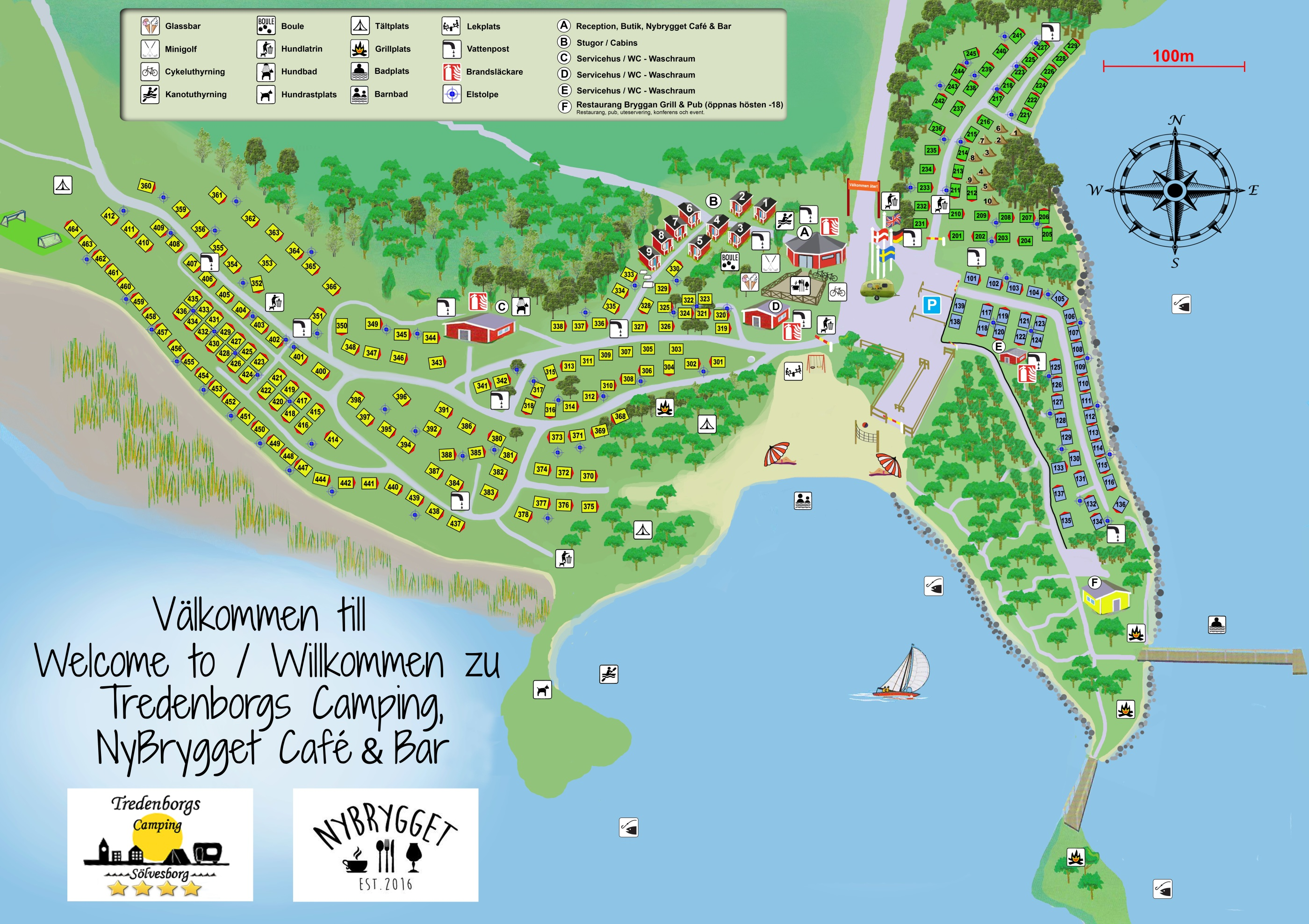 Karta Camping Skane.Karta Tredenborg