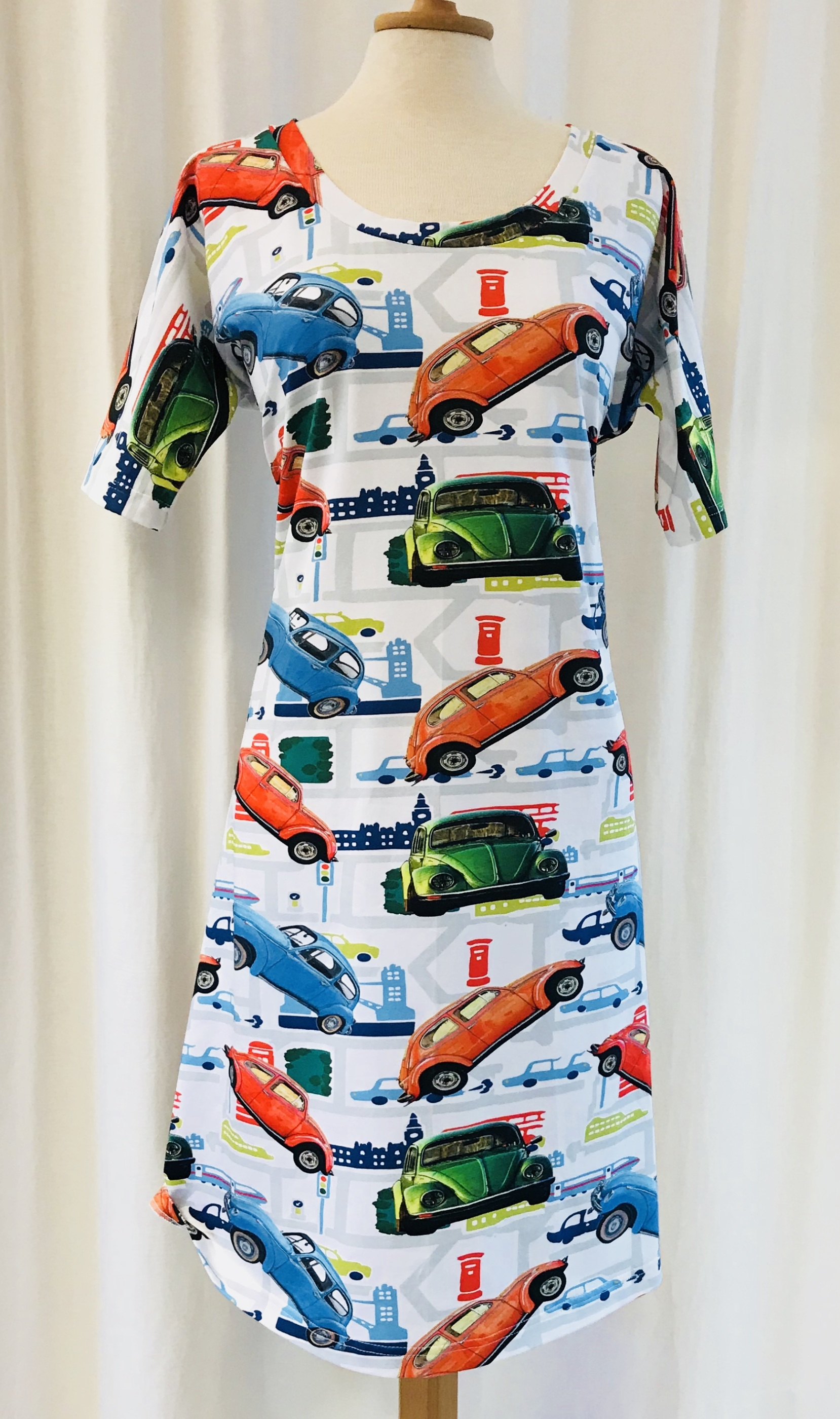 SaraLaholm klänning trikå VW bilar bomull