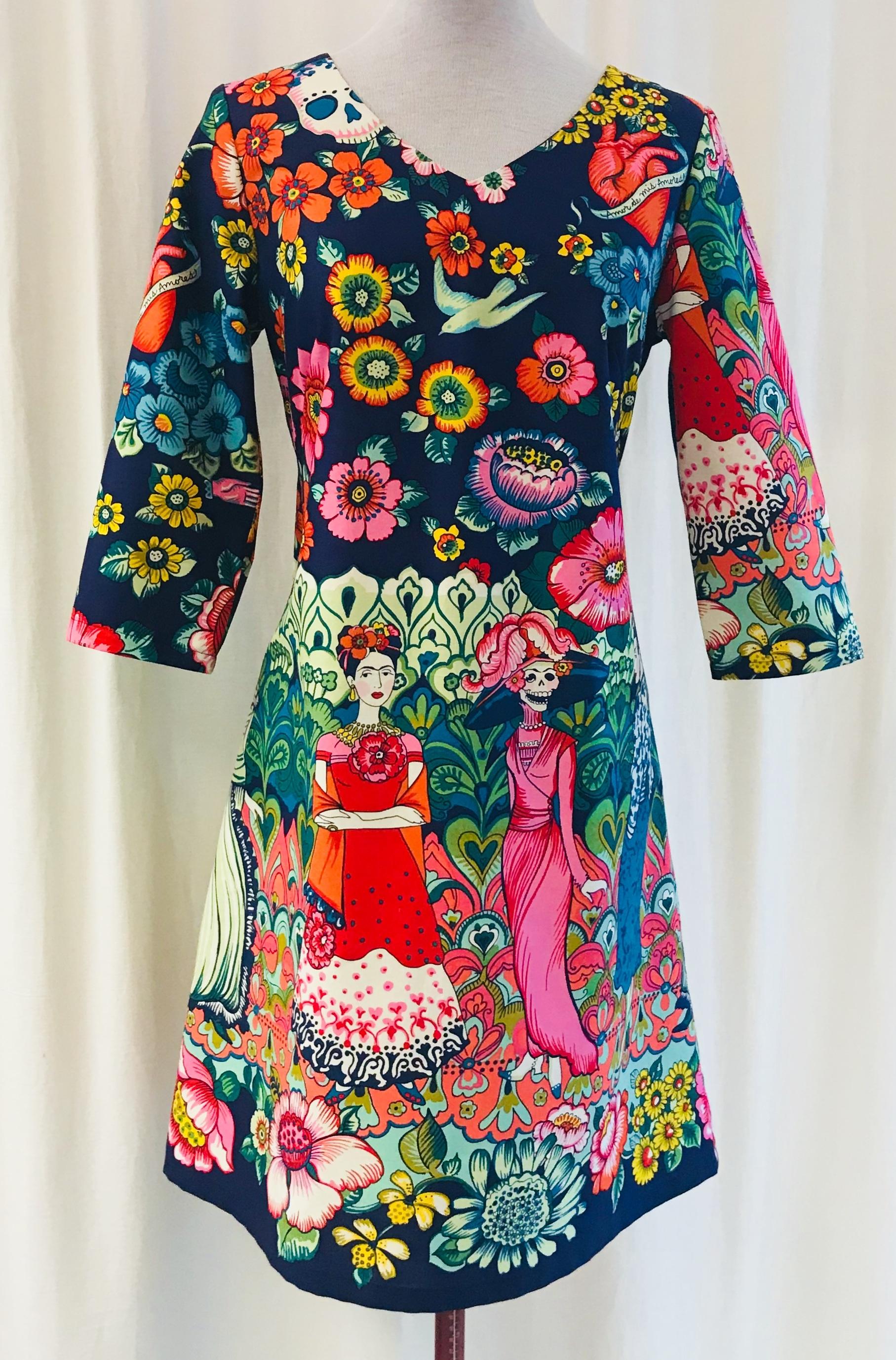 lbritt Frida Kahlo Mexico bomull unik design