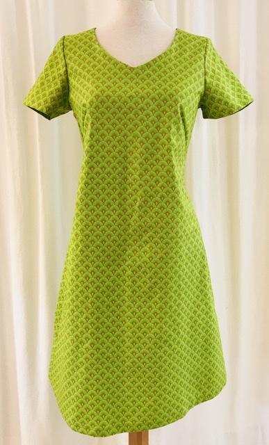 Klänning Solbritt sommar lime grön bomull unik design mer färg åt folket SaraLaholm