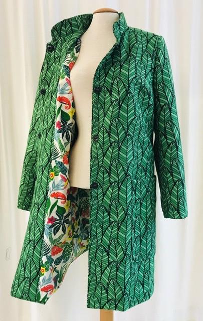 Kappa iris bladgrön unik design SaraLaholm mer färg åt folket