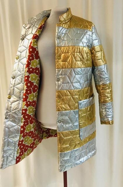 Kappa iris silverguld unik design täckjacka SaraLaholm