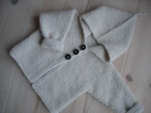 Babykofta med knappar eller blixtlås -