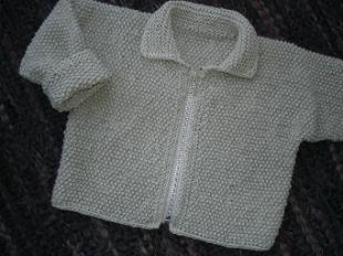 Babykofta med knappar eller blixtlas-2