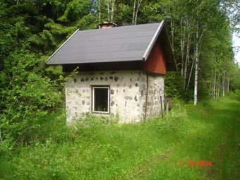 Här fyllde loken på vatten och kol, men kolhuset är rivet