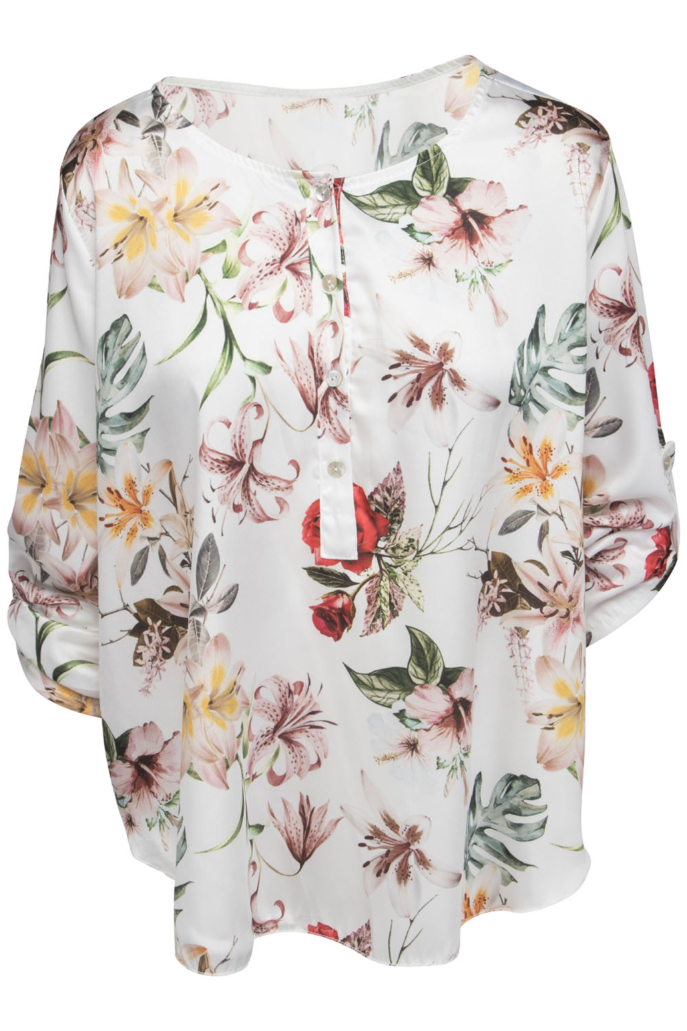 Chica-London-Blus-med-Flower-print-R331A/005