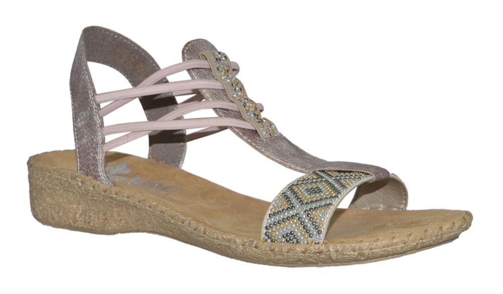 rieker-61662-sandal-ljusrosa-metallic-resår