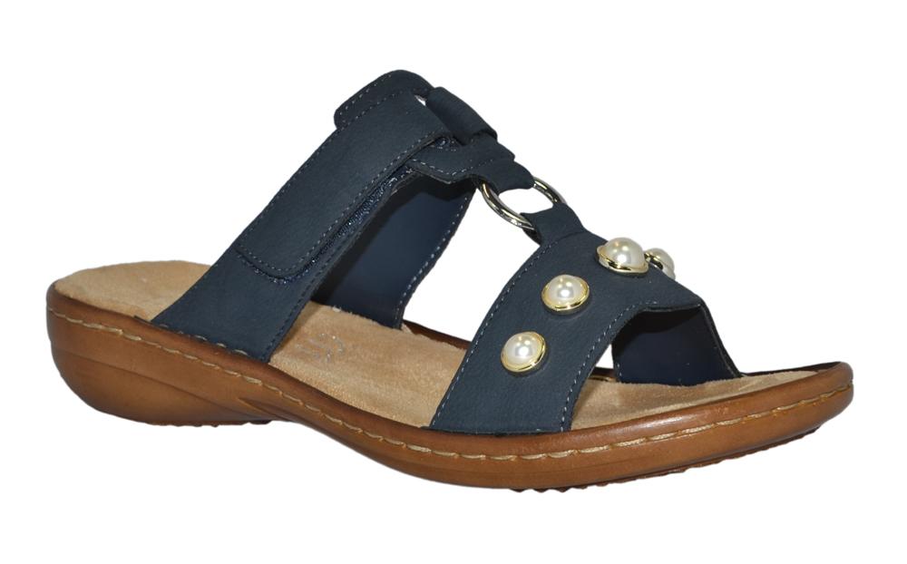 rieker-608P1-slipin-sandal-pärlor-marinblå