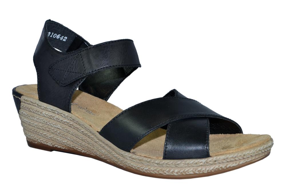 rieker-62443-sandalett-kilklack-skinn-svart