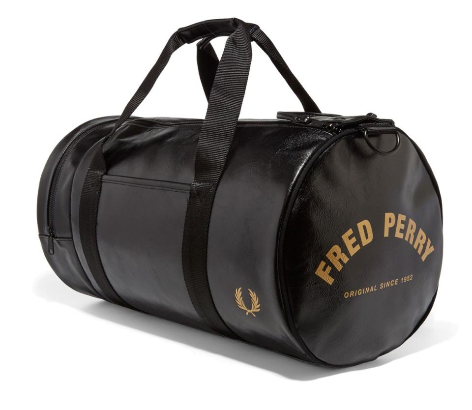 fredperry-barrelbag-svart-guld