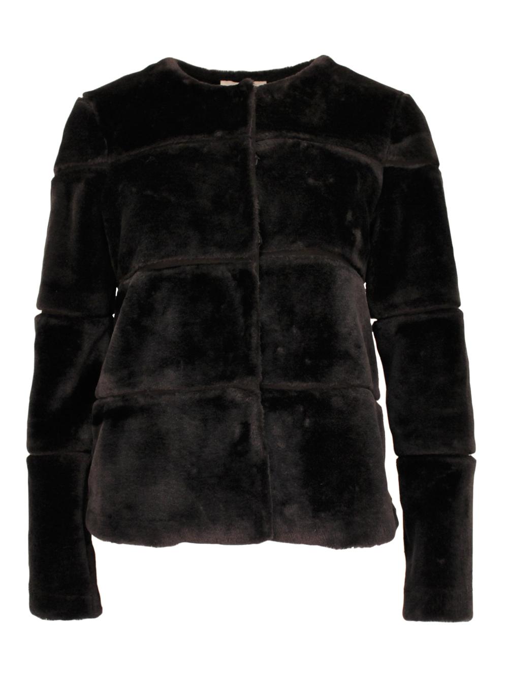 New Kahla Faux Fur jacket Black