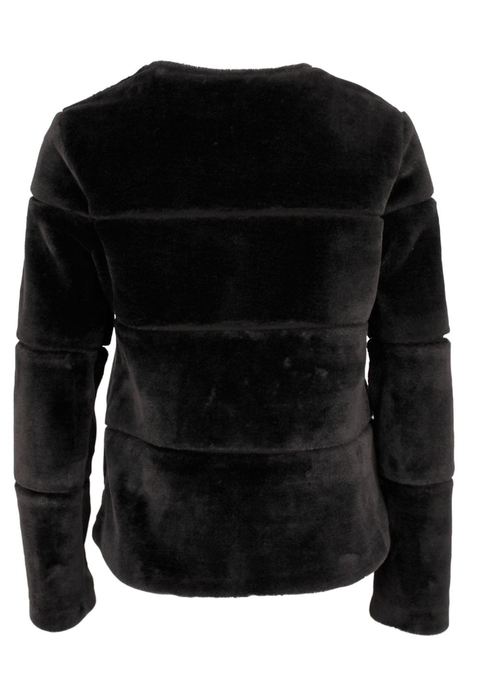 New Kahla Faux Fur jacket Black 2