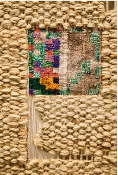 "Carlos Monleón, Details from ""Deep Hamra"", a tapestry woven in collaboration with three weavers"
