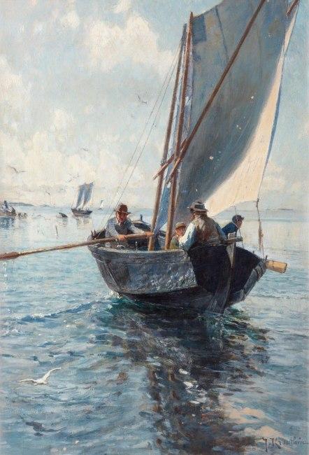 Fiskare i båt, Bukowskis