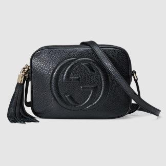 SoHo Small Leather Bag - Black