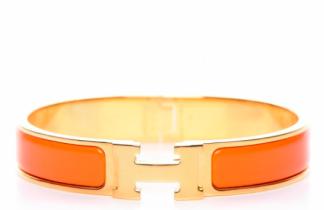 Hermes Bracelet - Orange/Gold