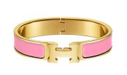 Hermes Bracelet - Pink/Gold