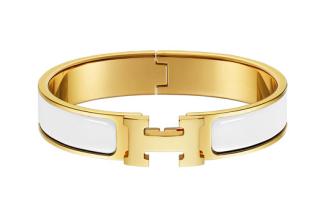 Hermes Bracelet - White/Gold