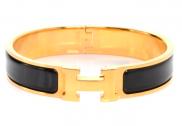 Hermes Bracelet - Black/Gold
